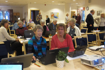 Workshop på Baltzar, SeniorNet Kungsholmen